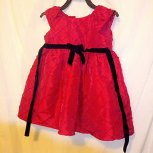 18 Months Red Cap Sleeve holiday Christmas Dress